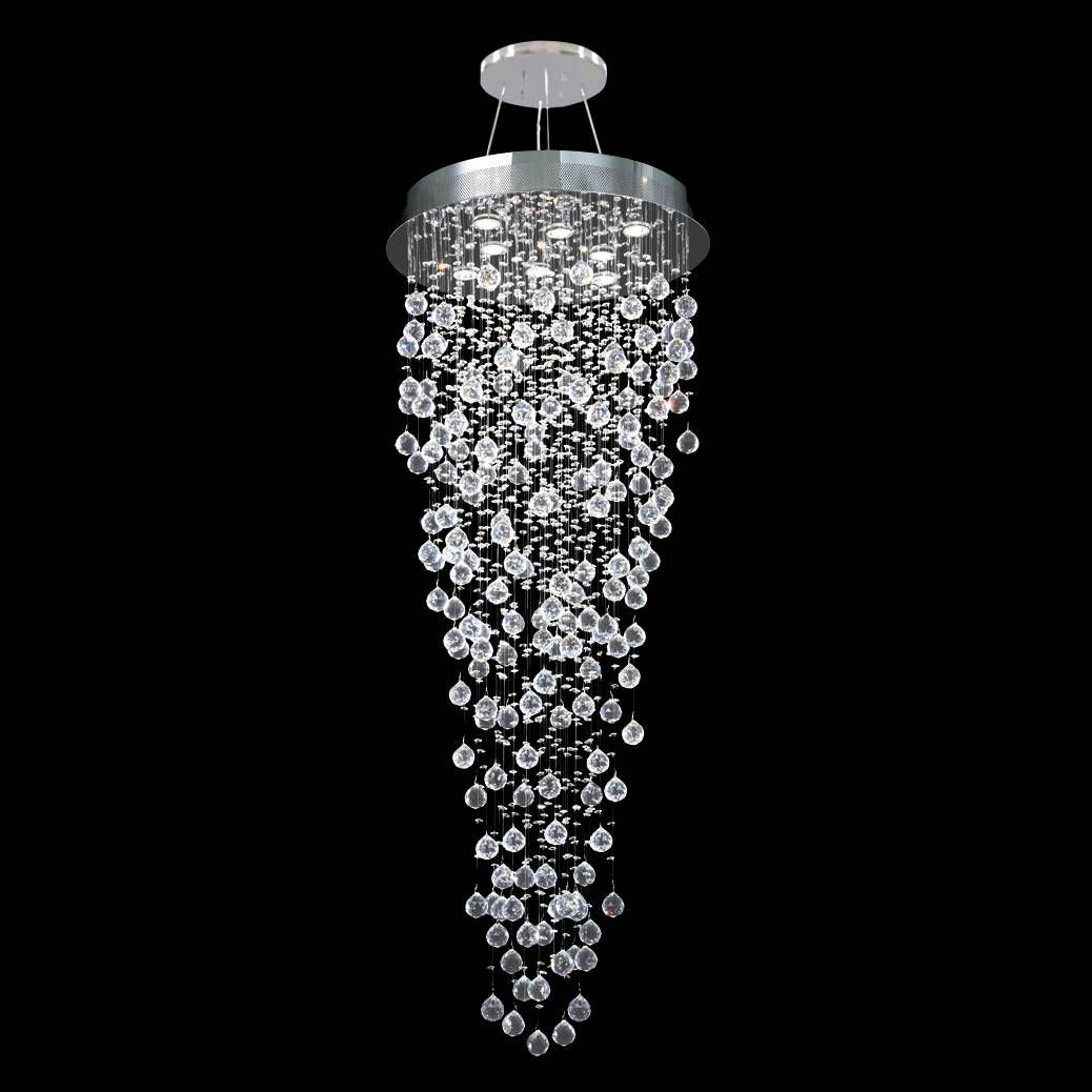 James r moder impact crystal rain 24 wide chandelier 2f723 lamps plus