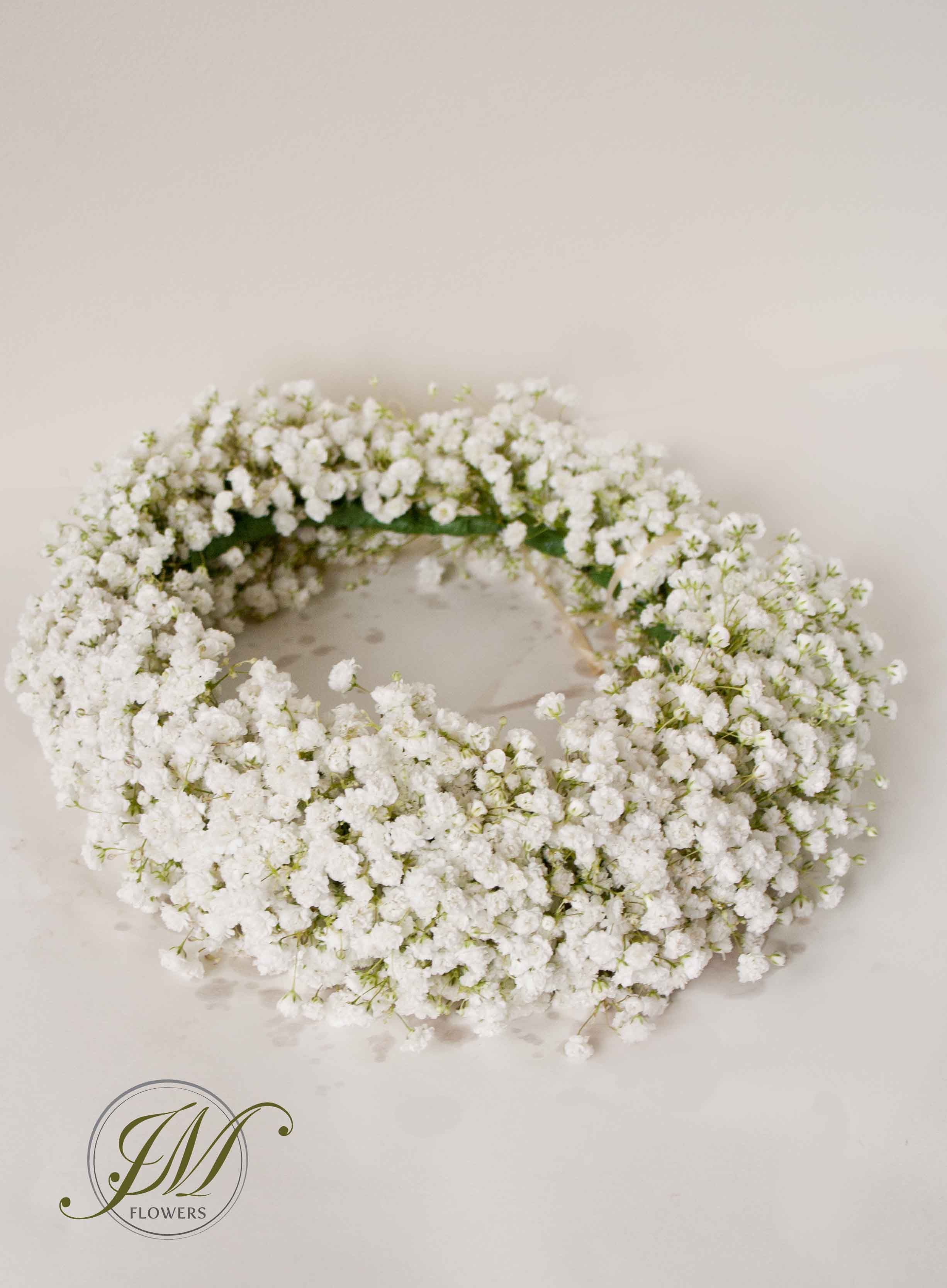 White gypsophila floral crown bridesmaids flowers pinterest white gypsophila floral crown mightylinksfo