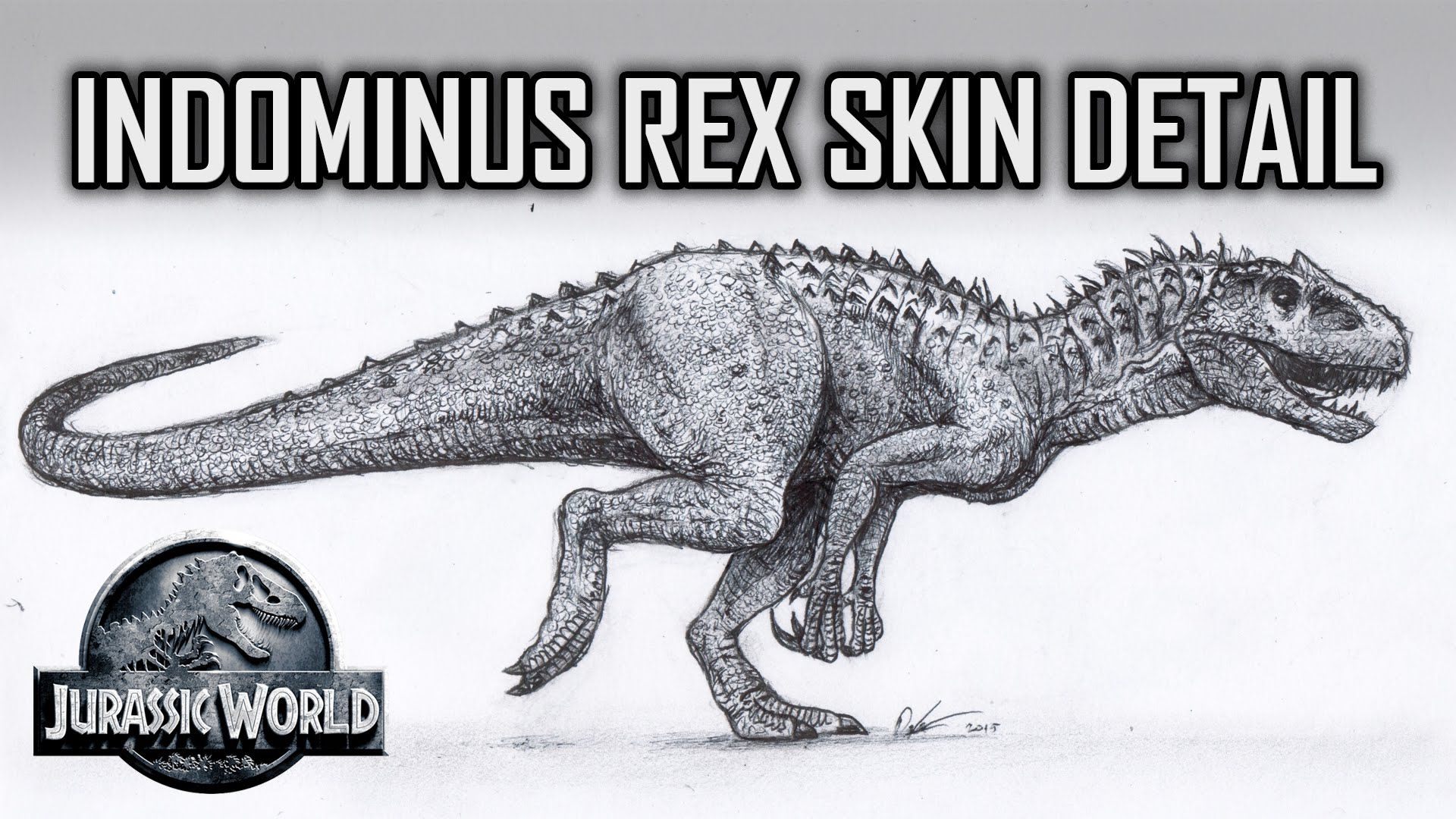 How to Draw Indominus Rex Scales Jurassic World