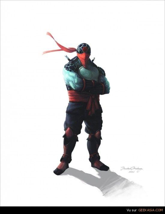 Les tortues ninja très réalistes de Malachi Maloney