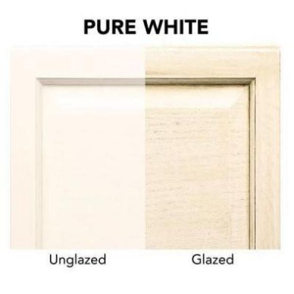 Glazed Kitchen Cabinets Vs White: Rust-Oleum Transformations 1 Qt. Pure White Cabinet Small