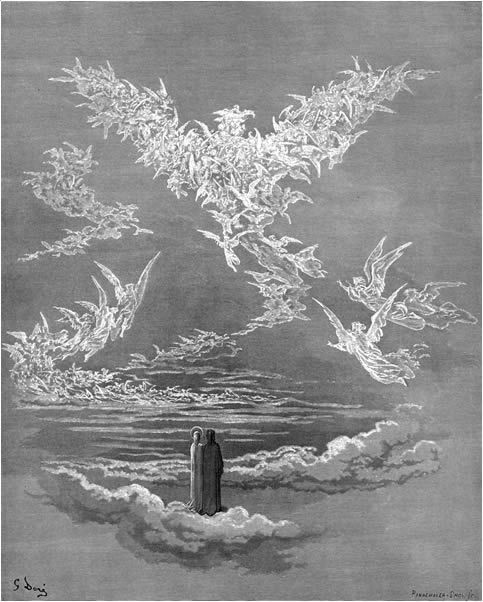 the blessed souls form an eagle in the sky divine comedy  death on the pale horse fuck yeah paul gustave dore art essay