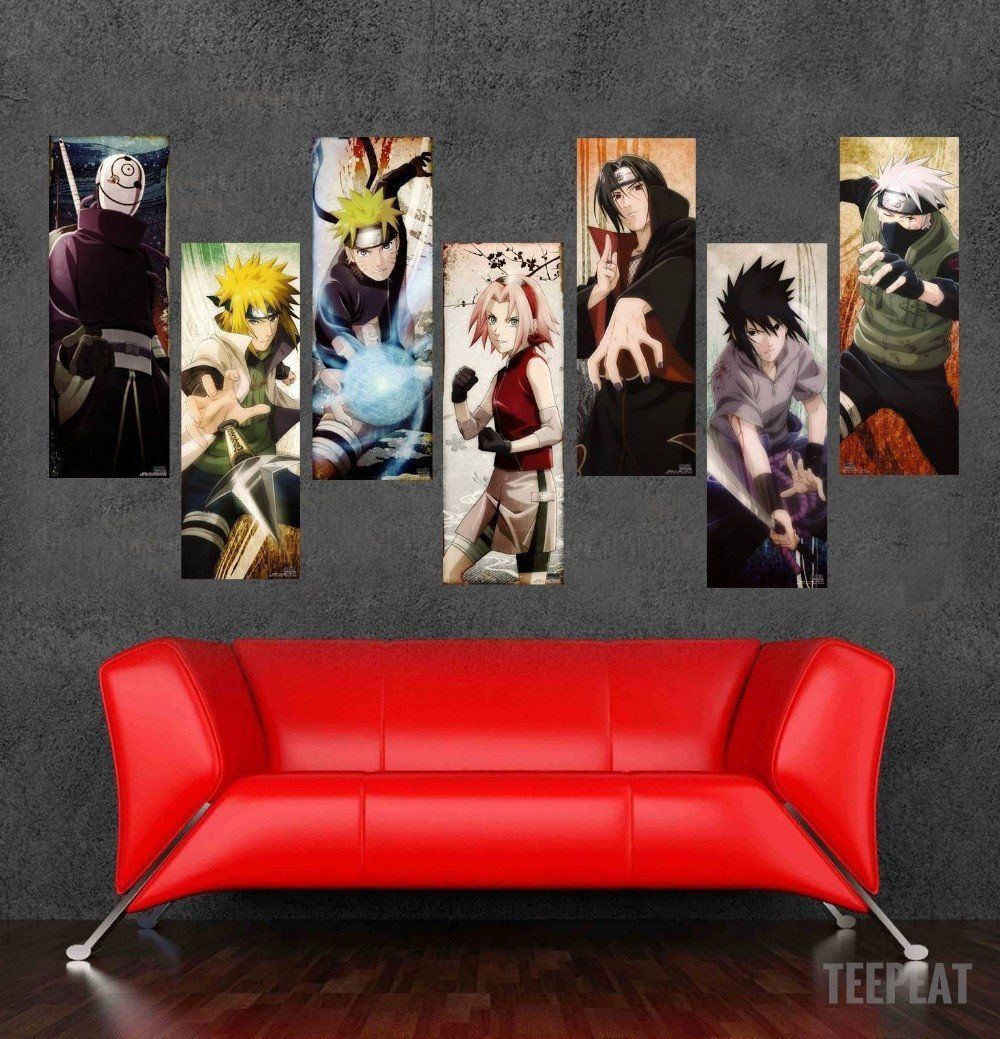 Naruto 6 piece canvas limited edition the nerd cave 1 prints prntable painting canvas empireprints teepeat