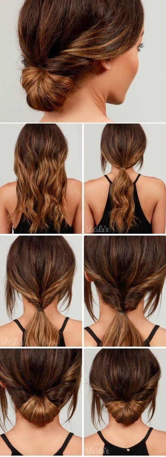 32 Peinados F 193 Ciles Y R 225 Pidos Paso A Paso Modelos 2018 Peinados Peinados Sencillos