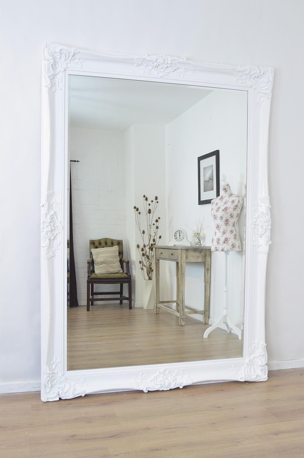 Lg065 1 Extra Large Wall Mirrors Mirror Wall Bedroom White Vintage Mirror