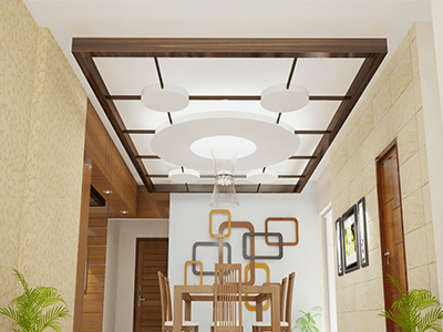 Apartment At Uttara Dining Ceiling Interior Home Office