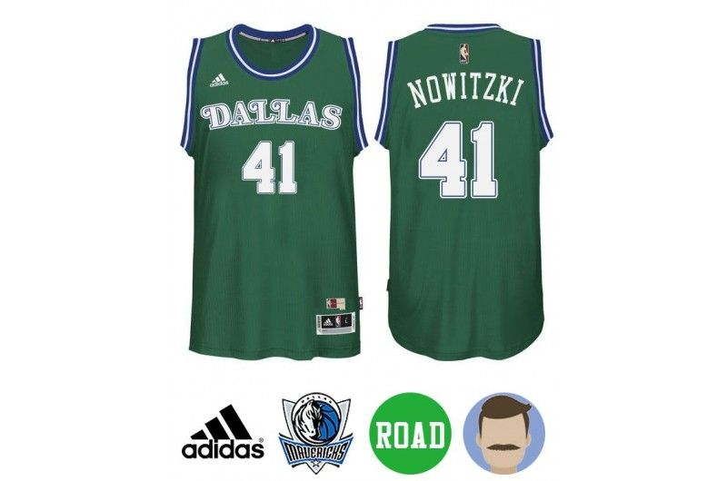 san francisco bfb1f 89a1e Kid's Dirk Nowitzki #41 Kelly Green Performance Jersey ...