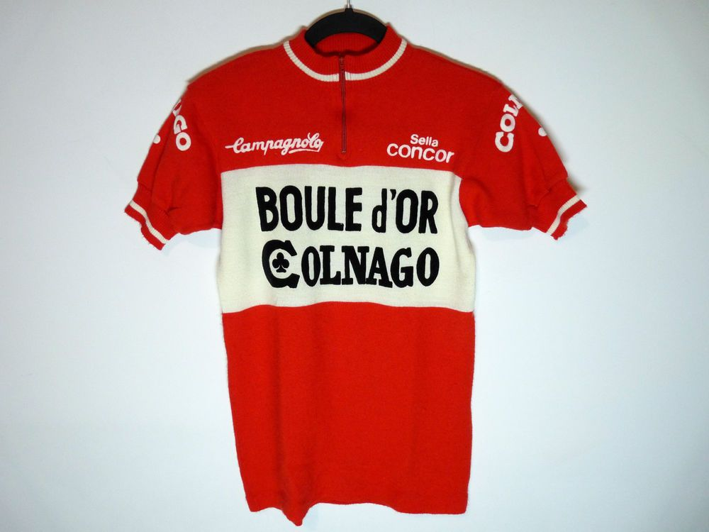 87b5ea33b Rare vintage Colnago Boule d or Campagnolo wool cycling jersey maillot  cycliste