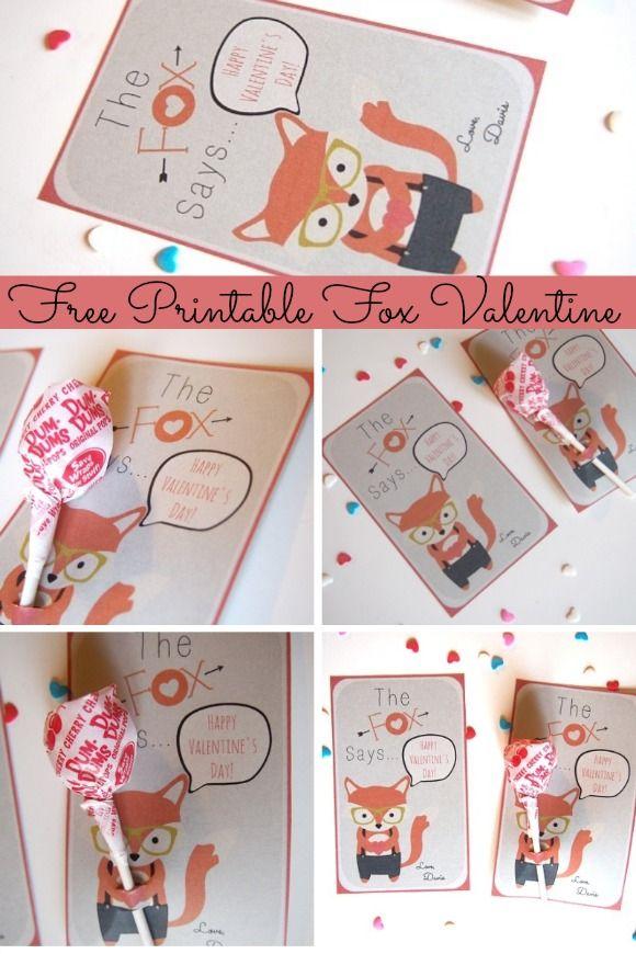 The Cutest Free Printable Fox Valentine Cards   GoGrowGo ...