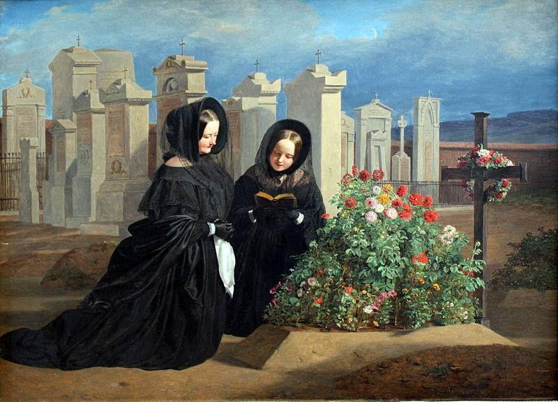 "Ferdinand Georg Waldmüller (Vienna, 1793 – Hinterbrühl, 1865) ""Il giorno dei morti"", 1839 Berlin Alte Nationalgalerie"