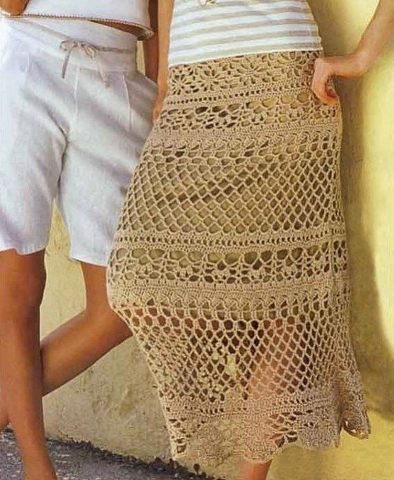 Maxi skirt crochet crochet skirt PATTERN only by FavoritePATTERNs, $6.75