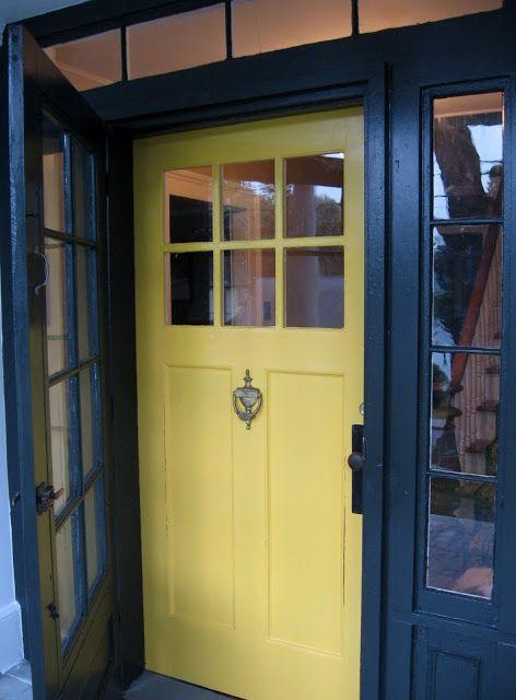 That Old House Front Door Benjamin Moore Imperial Yellow Door