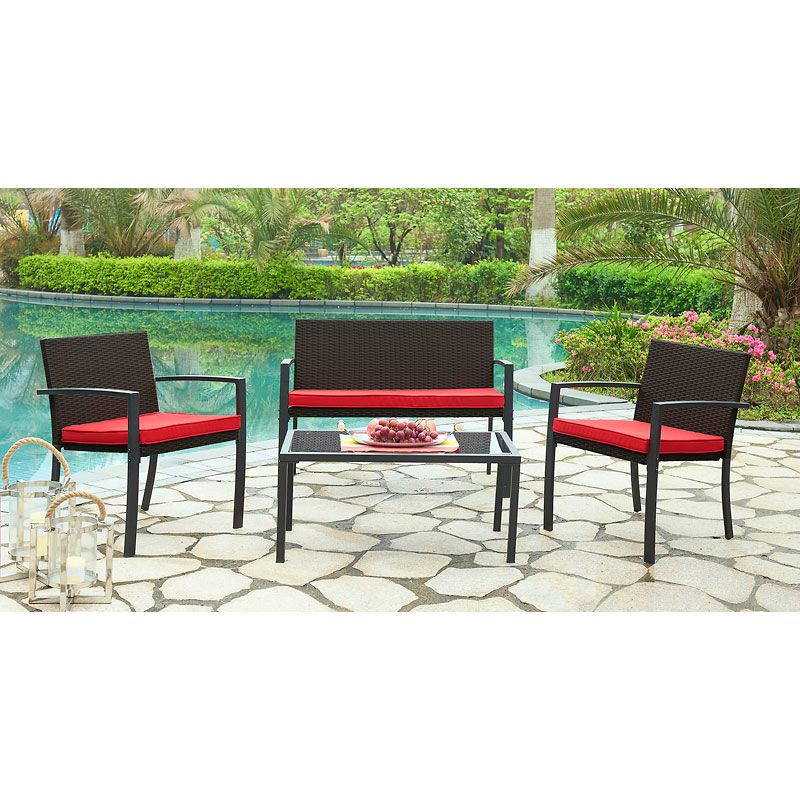 London Drugs 4-Piece Lounger Patio Set - Black - AP3630 - London Drugs - London Drugs 4-Piece Lounger Patio Set - Black - AP3630 - London