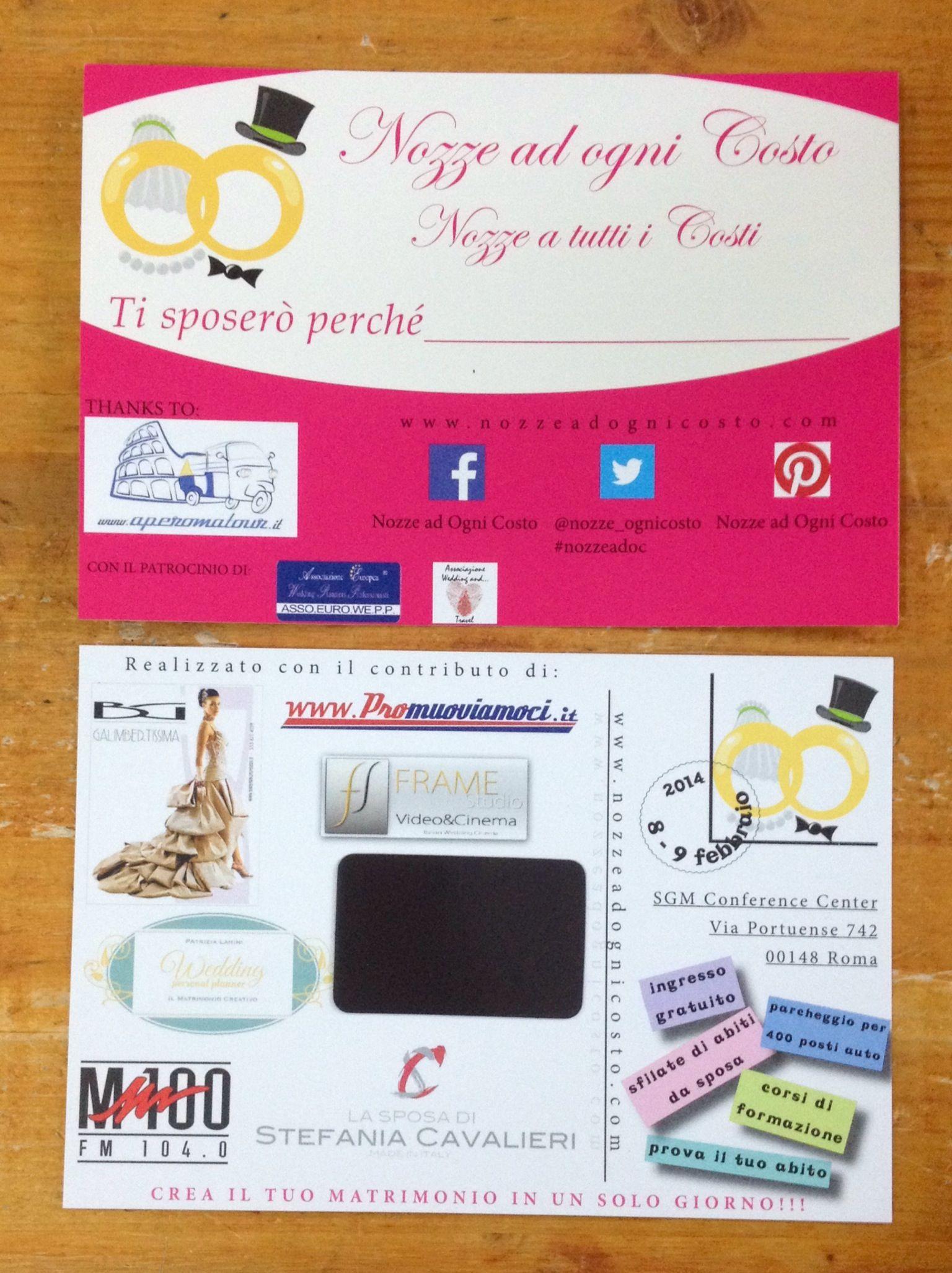 questa è la cartolina magnetica realizzata in collaborazione con www.nozzeadognicosto.com