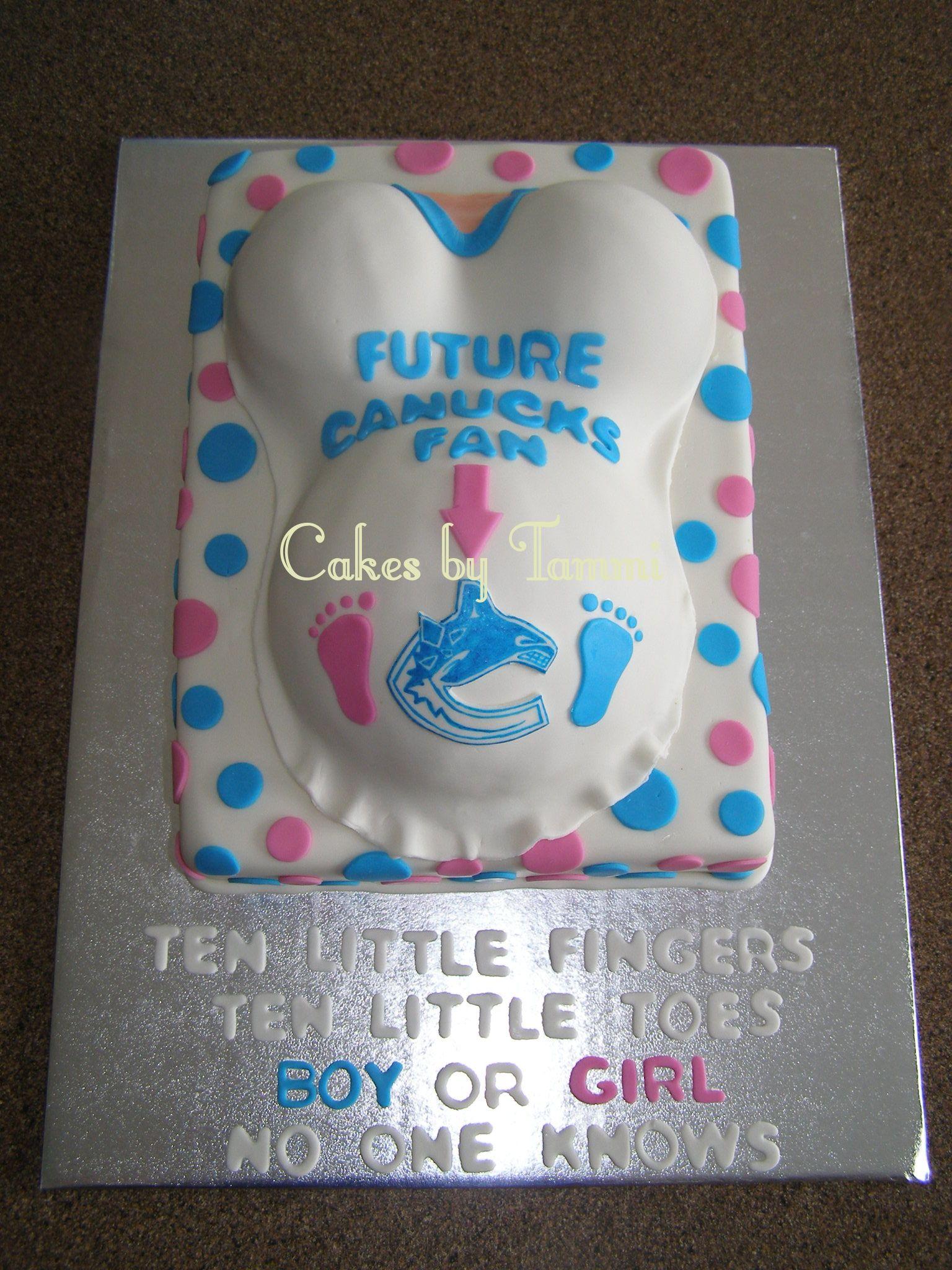 Gender Reveal Cakes Canucks Fan Gender Reveal Cakes