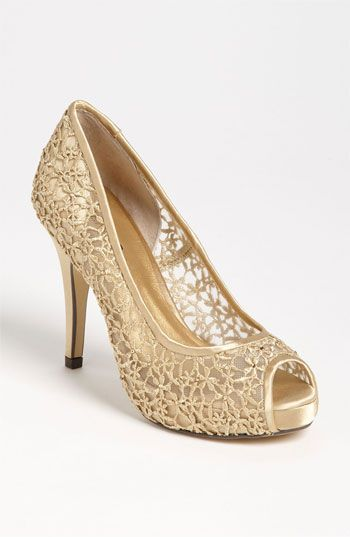 ca2172044a4e Add a splash of Metallic to your wedding look with the Menbur 'Strass' Pump  available at #Nordstrom