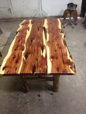 Custom Made Cedar Table