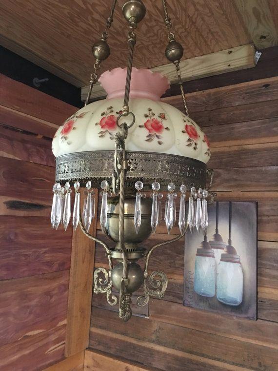 Antique Lantern Chandelier Hurricane Lamp Lighting by MaggieBleus - Antique Chandelier, Lantern, Hurricane Lamp, Lighting, Farmhouse