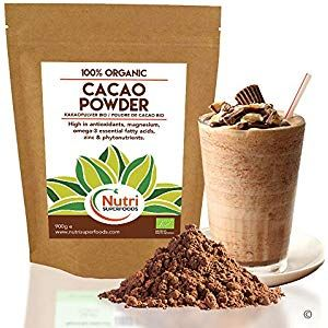 Cacao Powder - Organic Pure Vegan Dark Chocolate Ingredient - Premium Quality superfood - Sugar Free Delicious and Ideal for Baking Power Smoothies Protein Bars 900g Cupboard Pasta-Pulses Cupboard Spices-Seasonings Cupboard Minerals-Supplements Capsules Water Cupboard Supplies Mixes Flour-Mixes Supplies