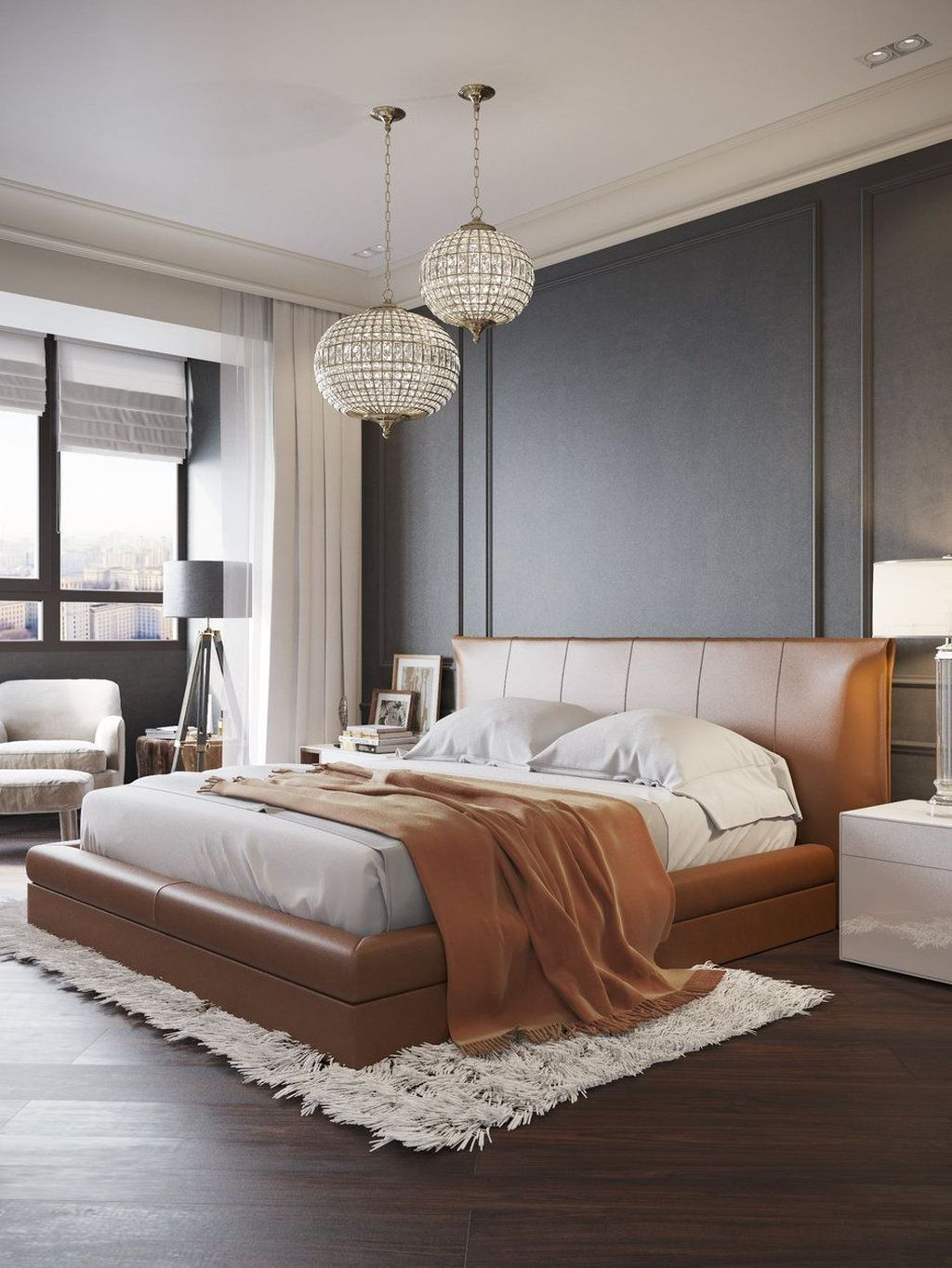 Cool 42 Charming Contemporary Bedroom