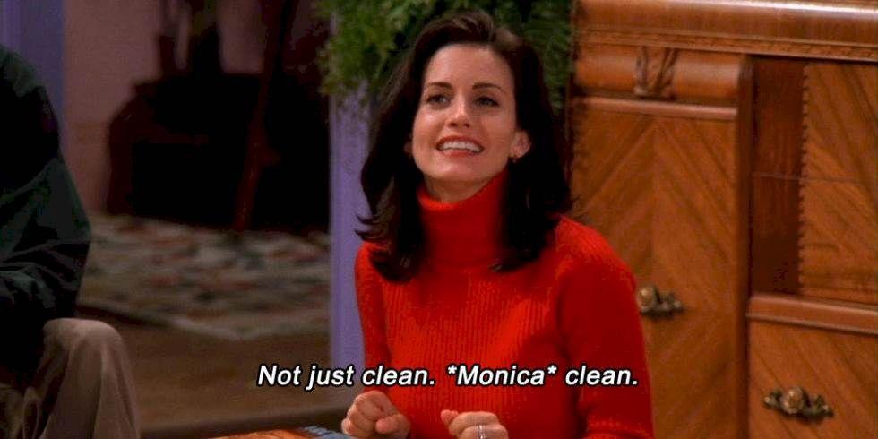 23 Signs You Might Be A Neat Freak | Monica geller, Monica friends, Friends  tv show