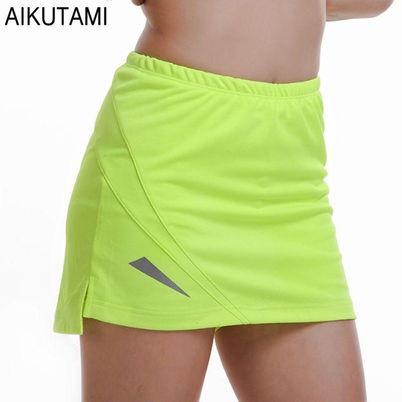 PRO Tennis Skirt Women Solid Breathable Quick Dry Skort Skirt Sport Tenis Jupe Culotte Golf Skirt Beach Volleyball Gym Wear