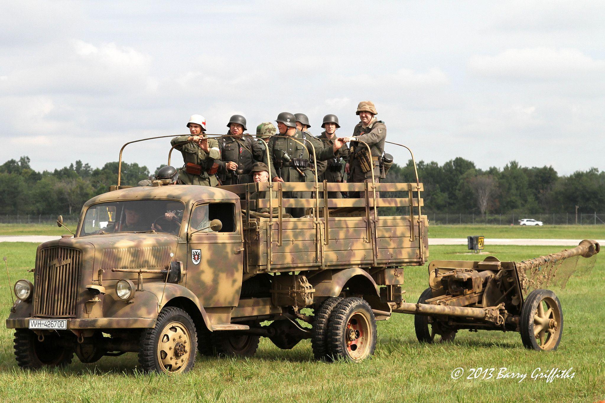 German Army OpelBlitz cargo truck German army and Army