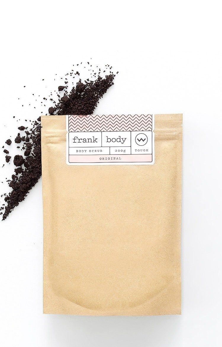 coffee body scrub before and after