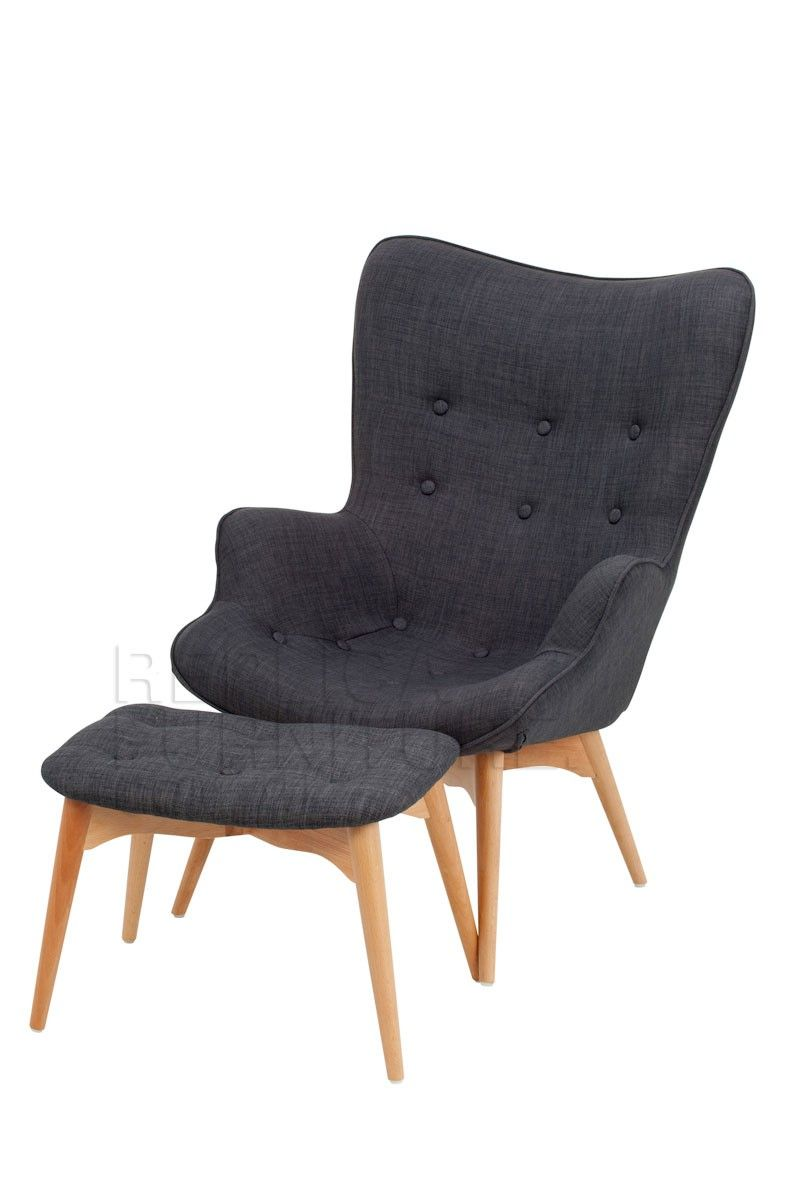 Replica Grant Featherston Contour Lounge Chair With Ottoman