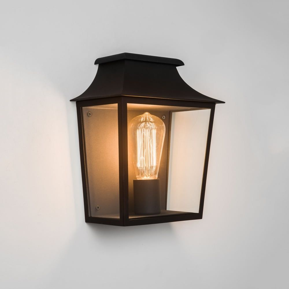Astro Richmond Exterior Wall Light In Black Outdoor And Garden Lighting From Dusk Uk