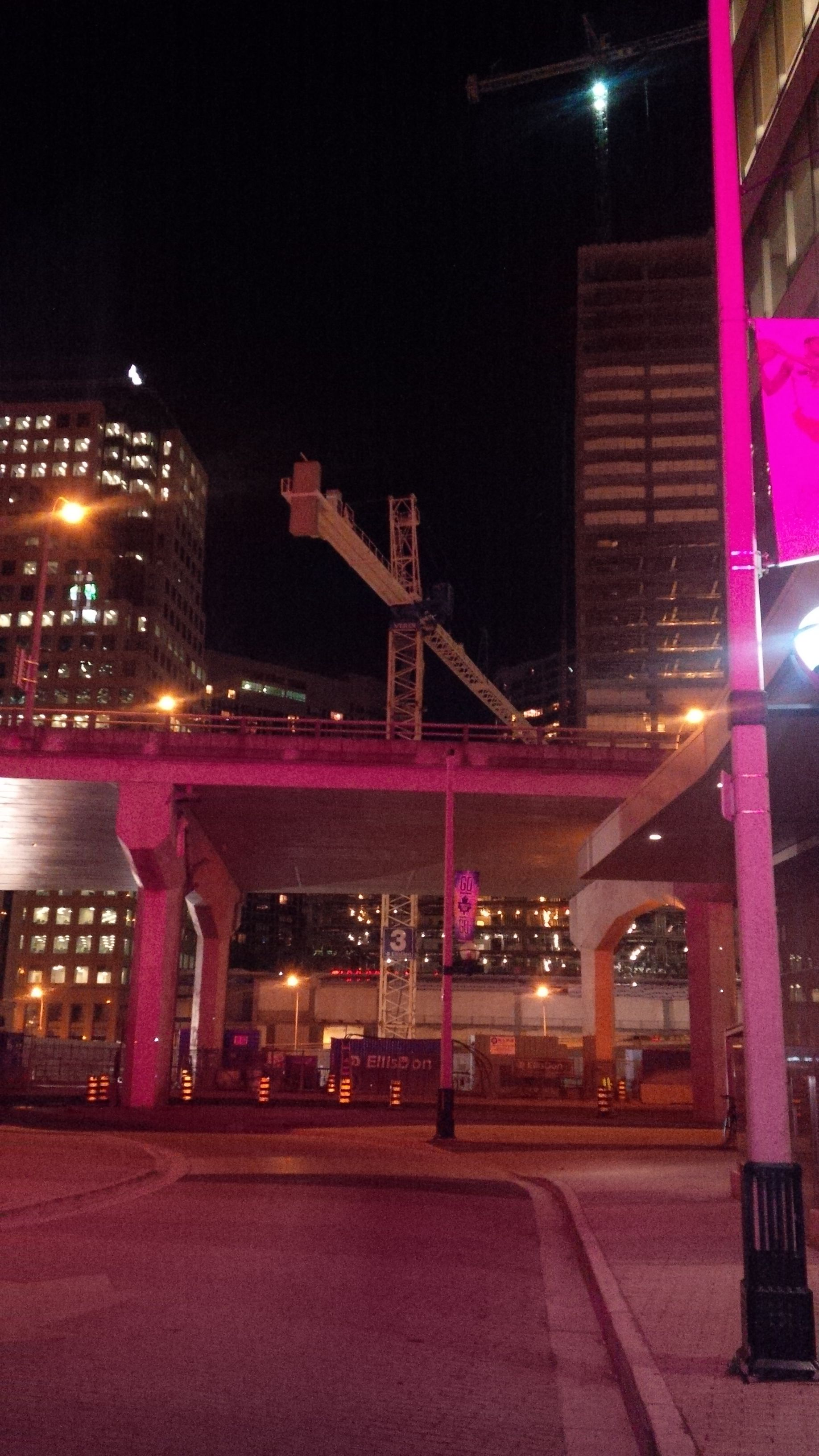 Harbour Plaza site at night in Toronto's South Core