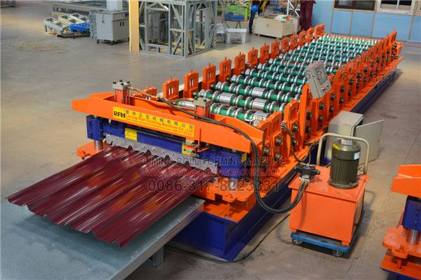 Improved Trapezoidal Roof Panel Machine Roof Panels Roll Forming Roofing