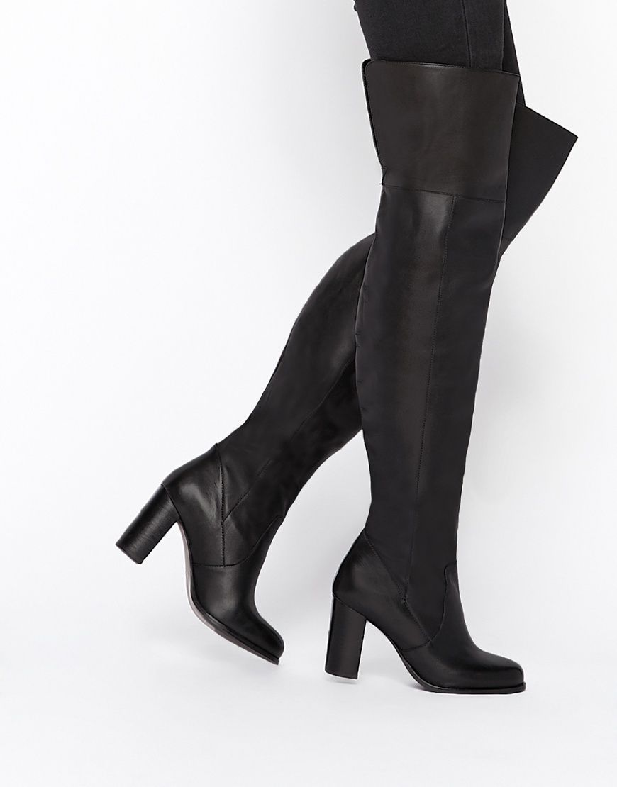 Buy Women Shoes / Asos Kickster Leather Over The Knee Boots