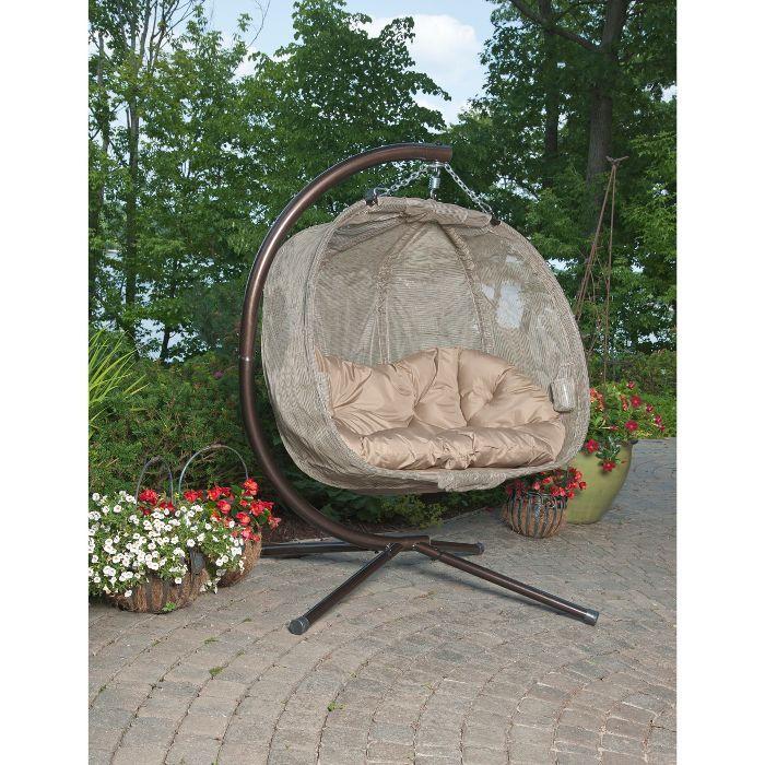 Textilene Hanging Pumpkin Chair Brown Flowerhouse