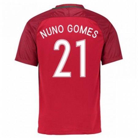 Portugal 2016 Nuno Gomes 21 Hjemmedraktsett Kortermet.  http://www.fotballteam.com/portugal-2016-nuno-gomes-21-hjemmedraktsett-kortermet.  #fotballdrakter