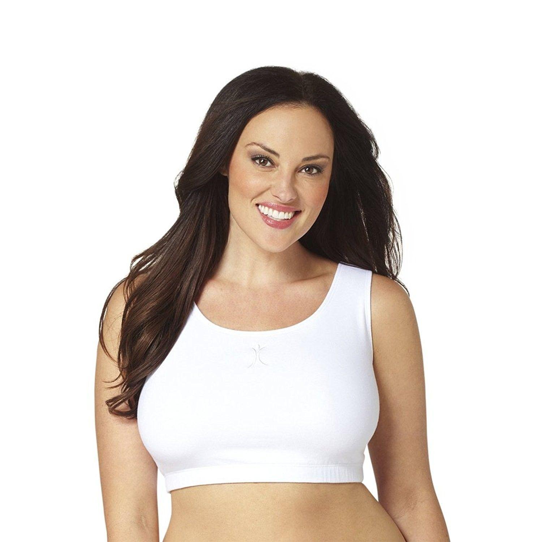 d794dba33dd A Big Attitude Women s Plus Size Scoop Neck Workout Sports Bra ...