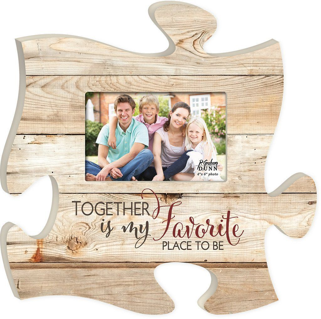 Together Is Puzzle Photo Frame Puzzle Frame Puzzle Piece Crafts Photo Frame Shop