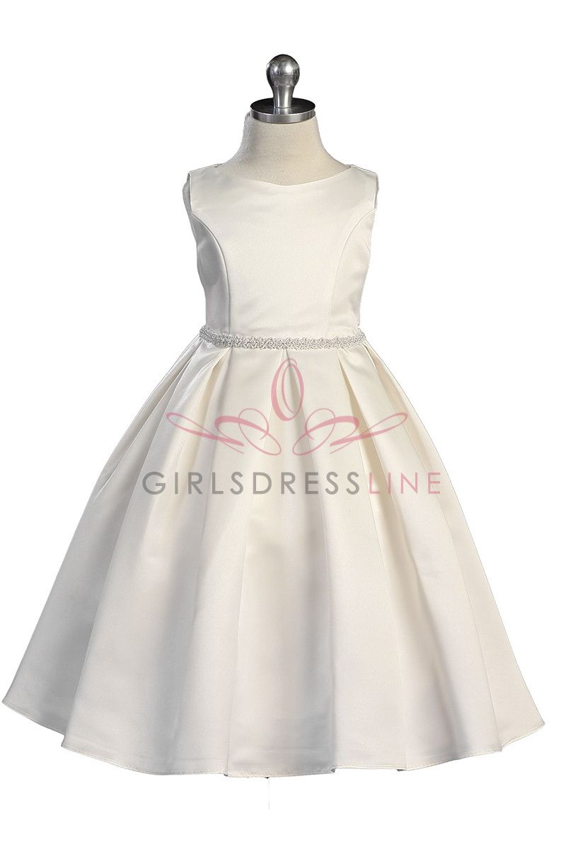 Ivory classic pearl trimmed flower girl dress pinterest flower