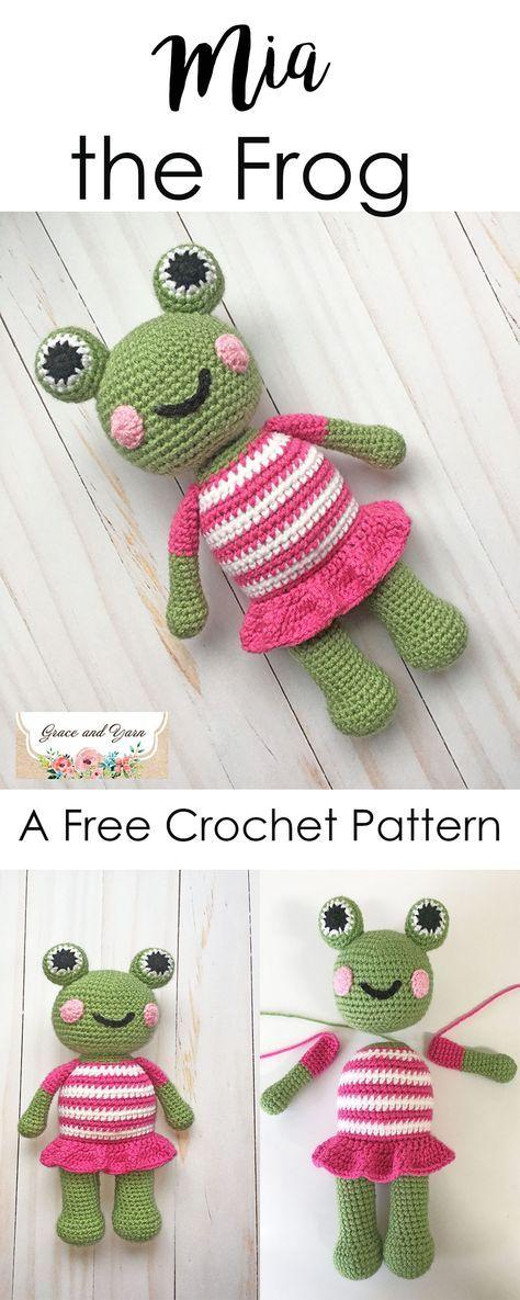 Mia the Frog - A Free Crochet Pattern | Ranas y Sapito