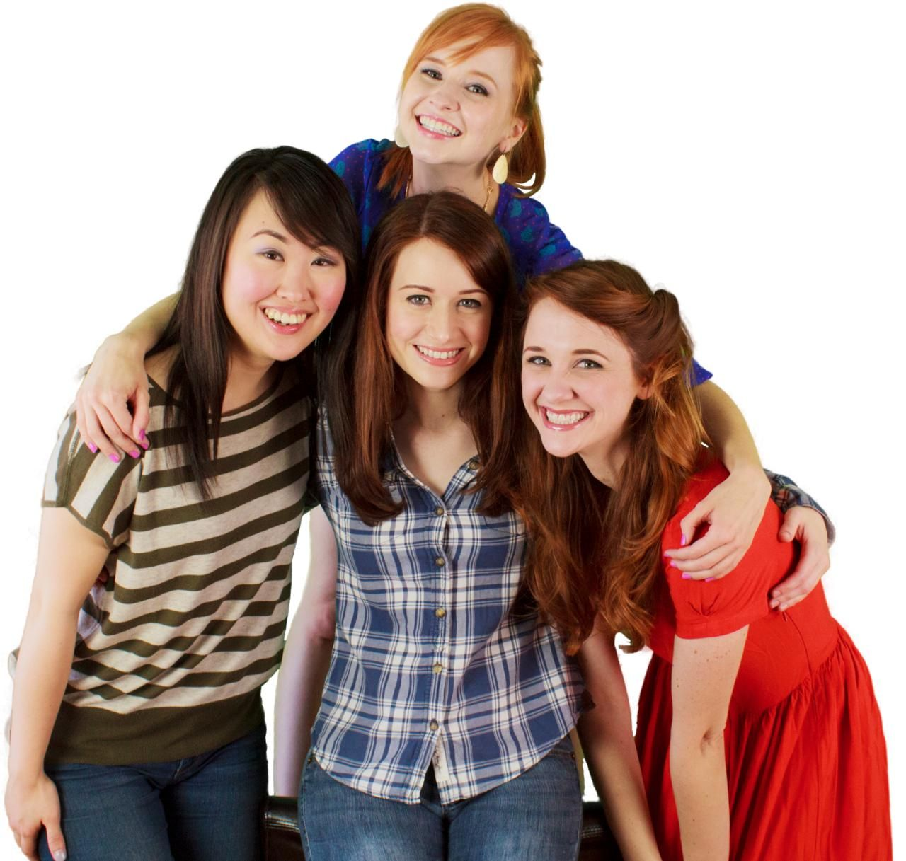The Lizzie Bennet Diaries Kickstarter project. Lizzie, Charlotte, Lydia and Jane