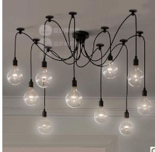 Details About Rock Bottom Price 10 Wire Edison Filament Bulb Chandelier W Bulbs Qty Discount With Images Light Bulb Chandelier Pendant Ceiling Lamp