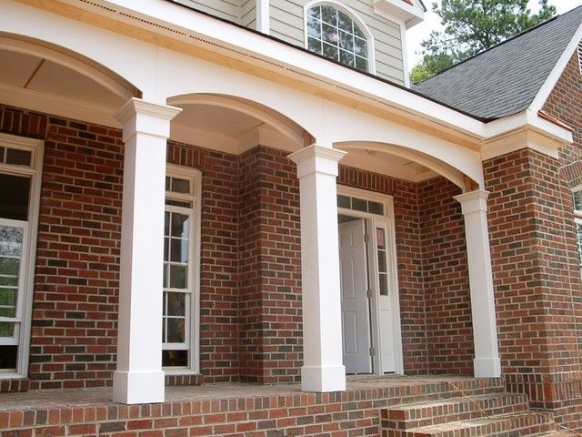 How to design porch with exterior porch columns for House plans with columns and porches
