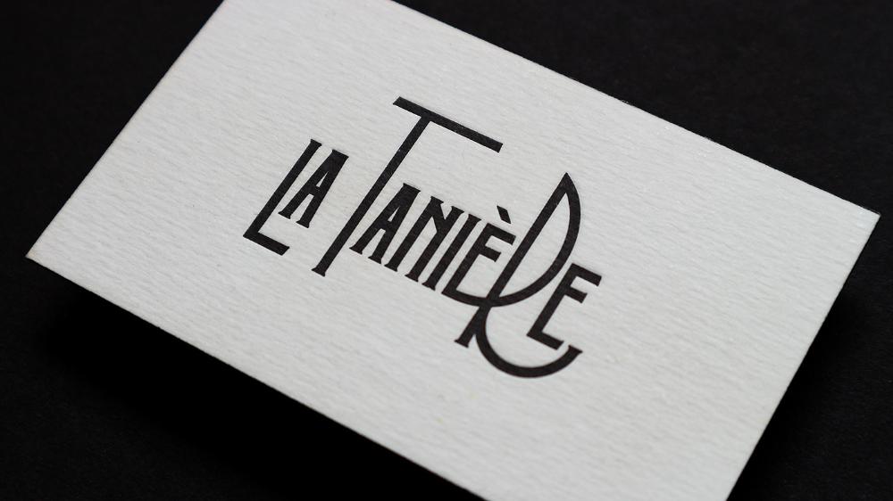La Tanière on Behance in 2020 Lettering, Art deco