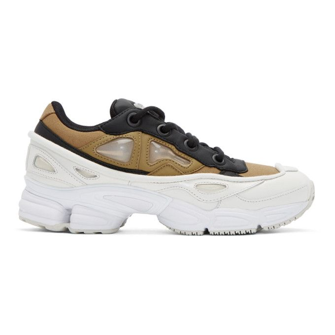 promo code c3b9b 60ab7 Designer Clothes, Shoes  Bags for Women  SSENSE. Adidas By Raf Simons  Black Gold Ozweego III ...