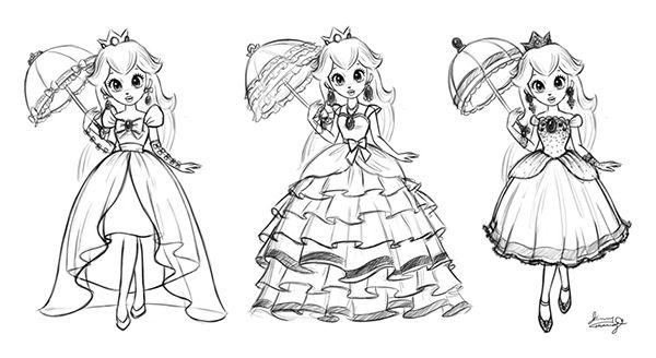 Princess Peach On Behance Super Mario Art Princess Peach Super Mario Coloring Pages