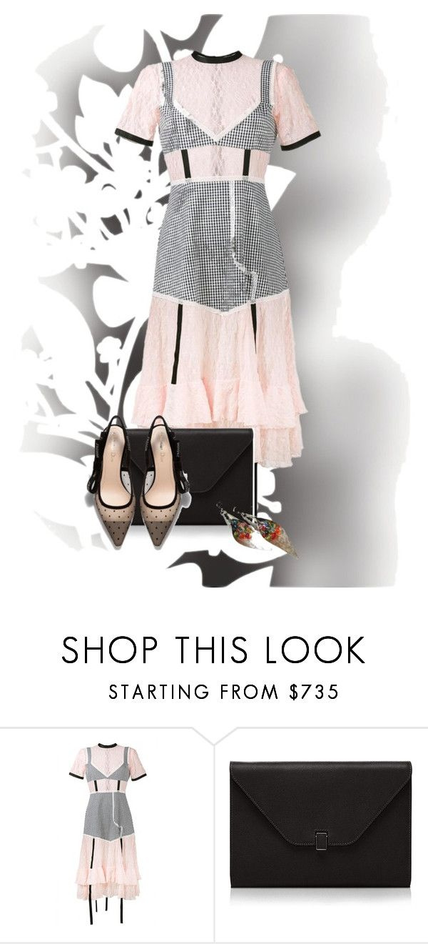 """""""Eclectic Is Good"""" by ggmusicista ❤ liked on Polyvore featuring Élitis, Sandy Liang and Valextra"""