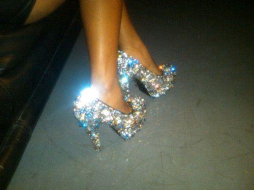 stilettos pumps in the club
