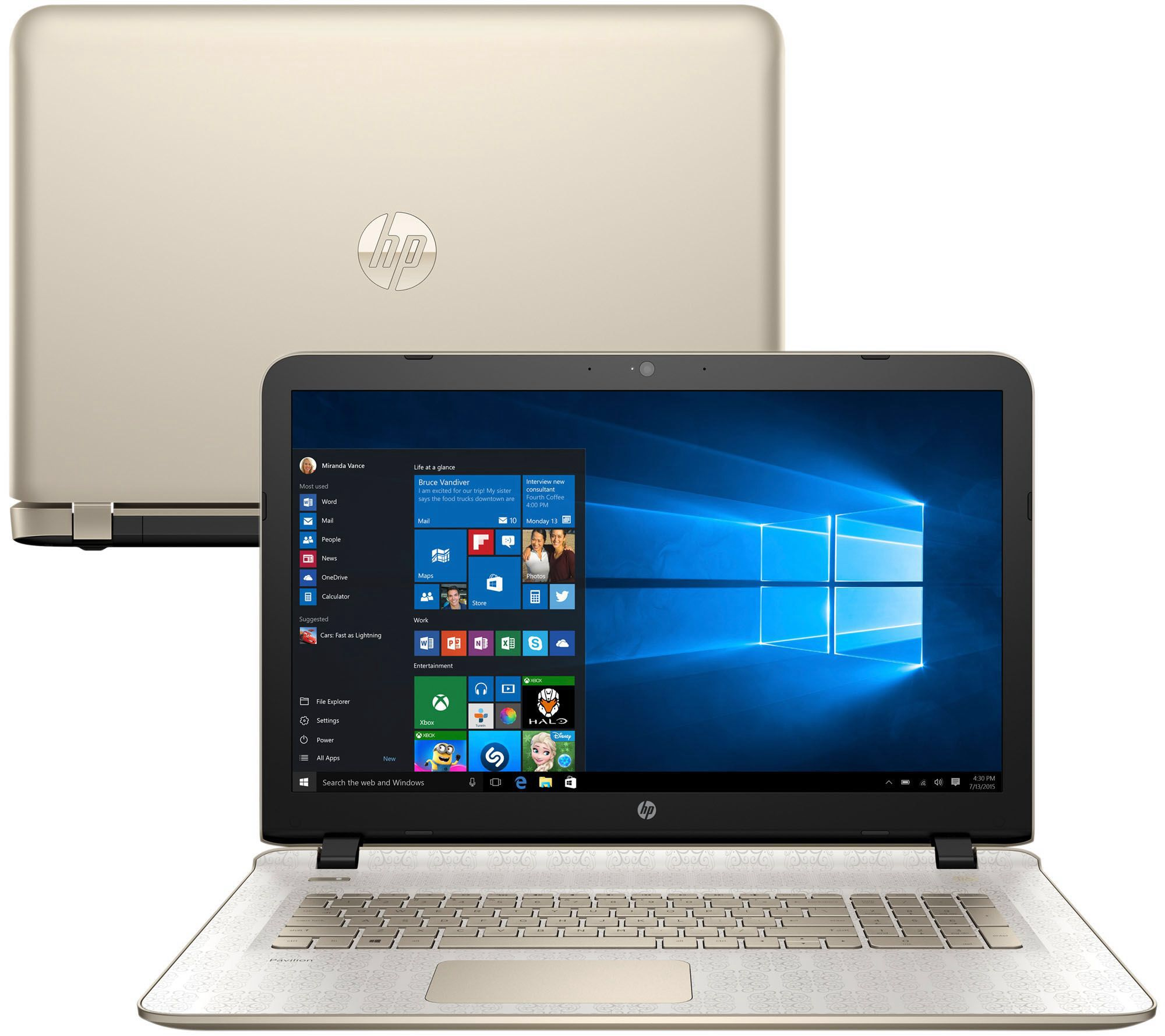 HP 17 Gold Luxe Windows 10 12GB Touch Laptop Lifetime Tech & MS