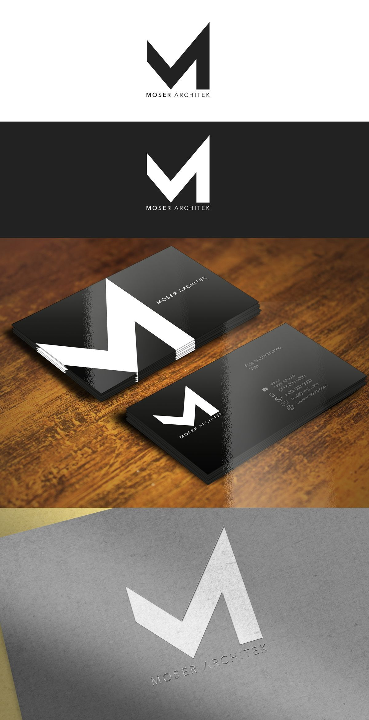 Minimalism for an architect. Ultimate Graphics Designs is