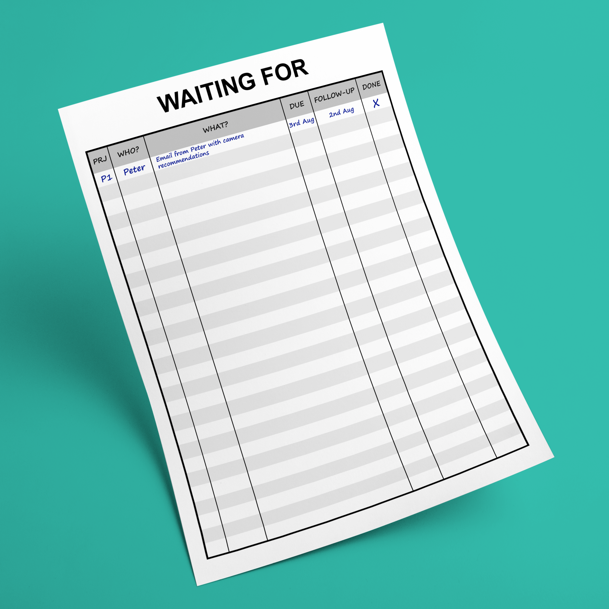Waiting For Editable Printable Getting Things Done Gtd Etsy Getting Things Done Gtd Productivity Printables
